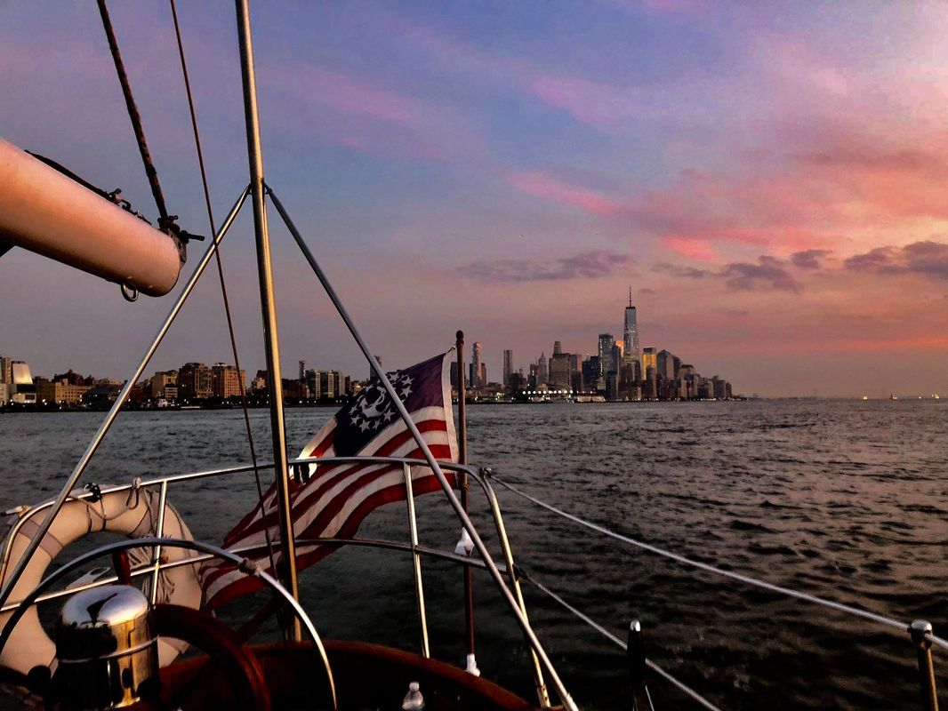 A beautiful sunset on New York Harbor!