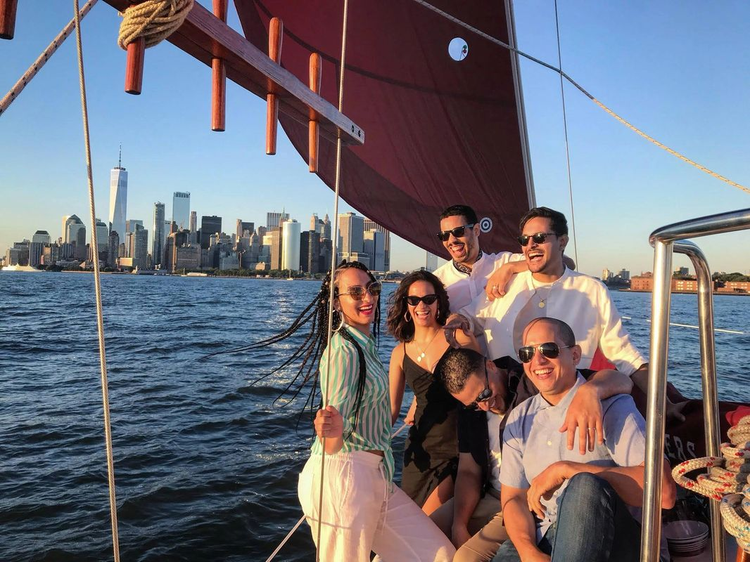 An extremely happy group aboard the Genesis!
