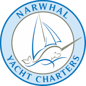 The logo of Narwhal Yacht Charters