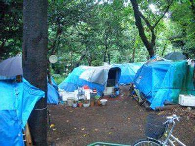 A homeless camp. Evicted in America.