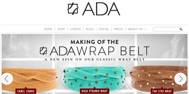 belts, purse, Argentinian leather, Ada Collection