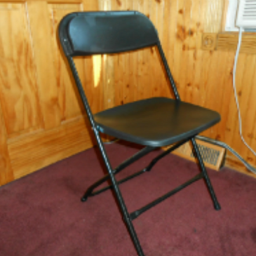 Black folding chair rentals