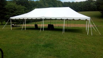 All tents must be set up and staked into ground.       Cash Discount = all prices include sales tax