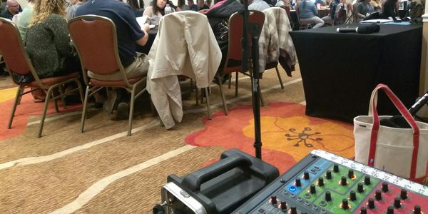 One of our favorite customers monthly Continuing Education Courses with our Speakers & Wireless Mics