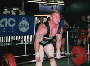 Powerlifting record-setting deadlift