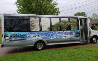 Our Nashville land yacht gets you and your guests here in style.