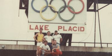 Ed Gaut trained with US Bob Sled members in Lake Placid at the Olympic training camp Ed Gaut & team