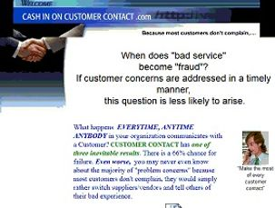 cash In On Customer Contact.com