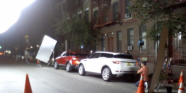 Range Rover shoot on location NYC.
