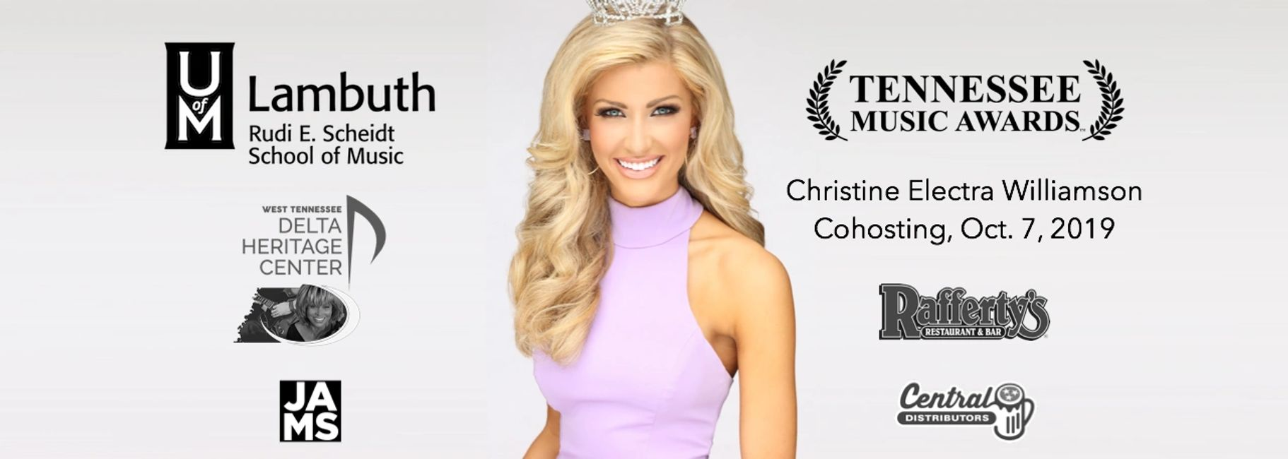 Christine Electra Williamson will cohost the Tennessee Music Awards on October 7th.
