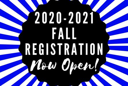 Fall Registration is now open! Register today to reserve your spot in class!