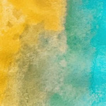 Water color design with yellow and blue.