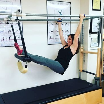 Pilates on Cadillac Hanging Pull Ups