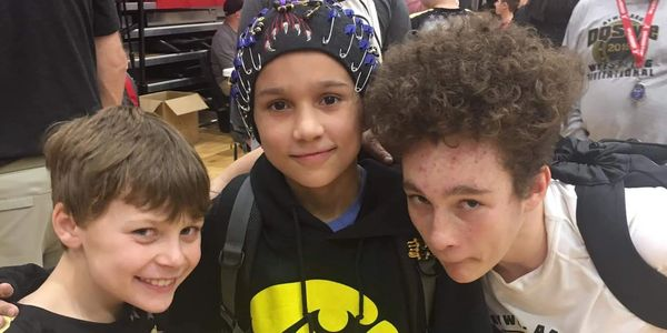 DQStyle Youth Wrestling goofing off at state championship
