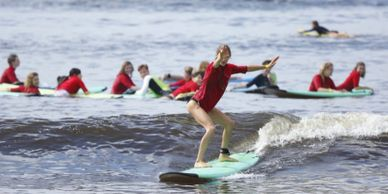 Kool Katz Surf School learn to surf in Byron Bay exclusive 40m guarantee cheapest surfing lessons