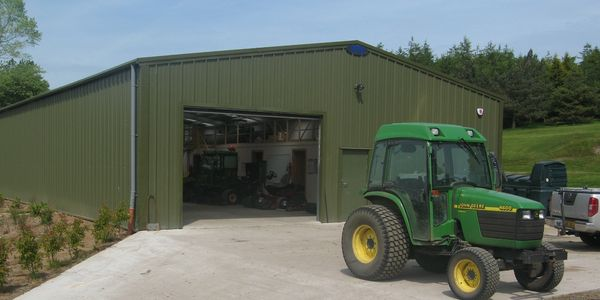 Golf course groundsman machinery stores designed, fabricated and built Nationwide