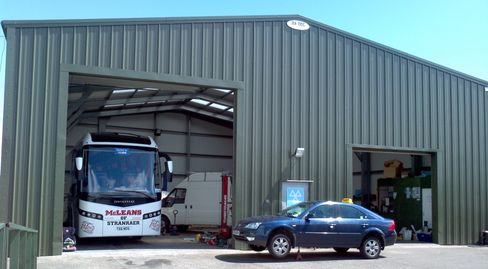 Commercial MOT STation Bus workshop Gararge Steel framed building Edinburgh