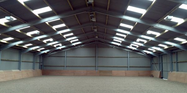 Indoor Equestrian riding arena