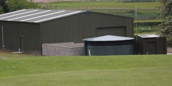 Golf course buildings driving ranges and equipment stores