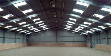 Indoor international riding arena and covered riding schools