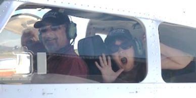 Mark is flying his Intro Flight. Lisa is the stollway in the back