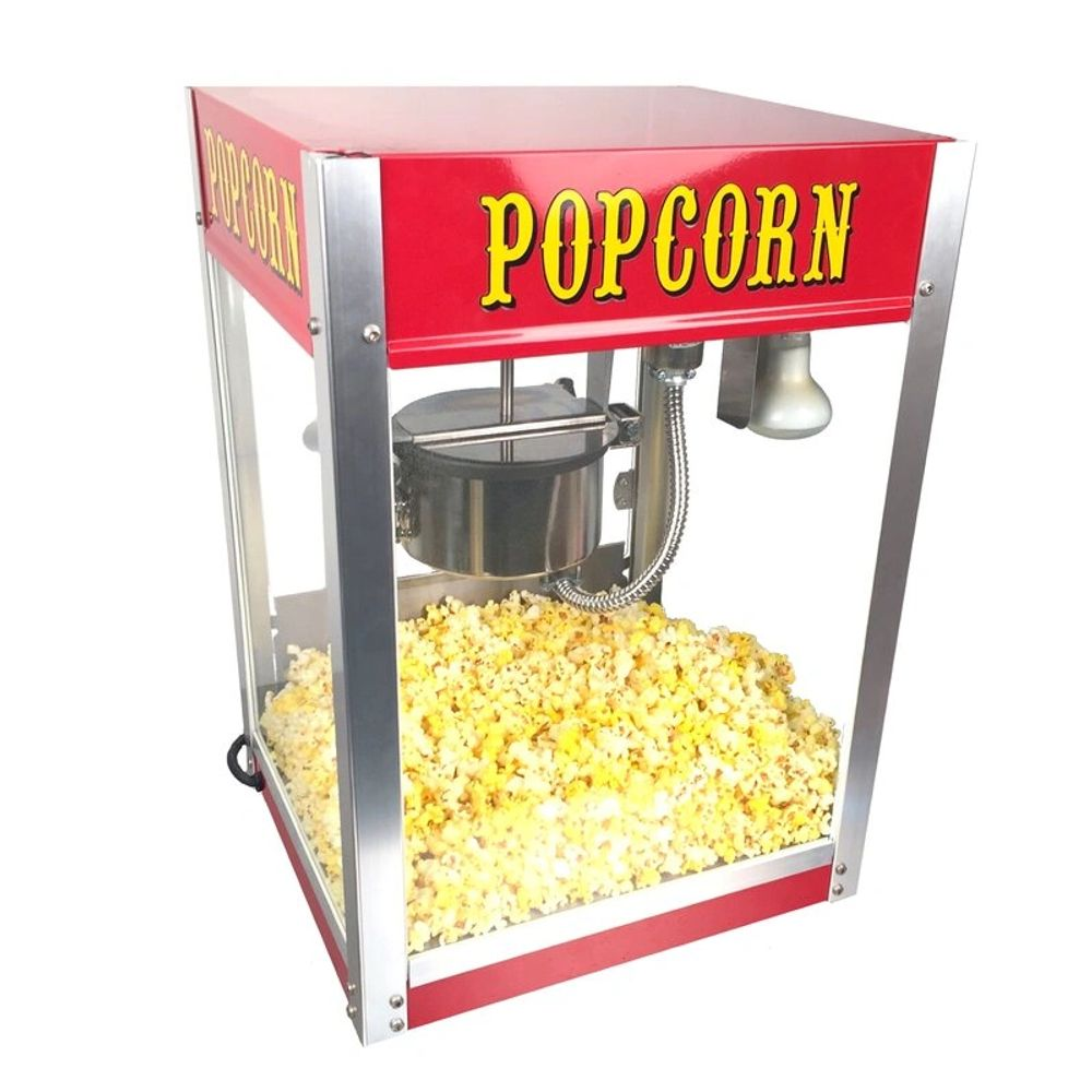Popcorn machine with a popcorn bulb.  Our popcorn popper bulbs are for warming the popcorn.