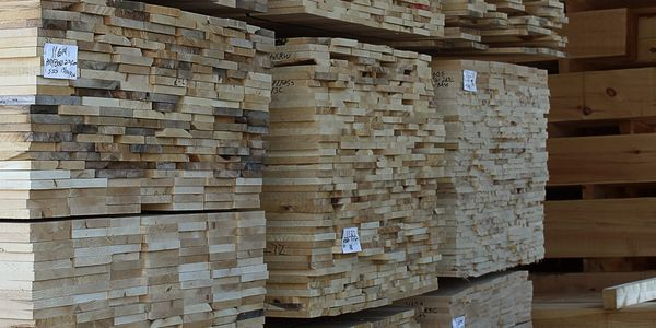 Large selection of raw wood products at Minnesota Timber & Millwork