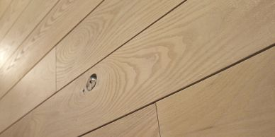 Select Black Ash nickel gap custom paneling from Minnesota Timber & Millwork