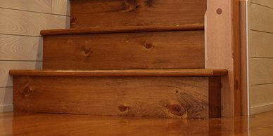 Custom wood stair components from Minnesota Timber & Millwork