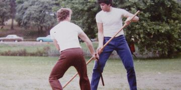 Kung Fu training in Centennial Park 1982 Arnis against Long Pole