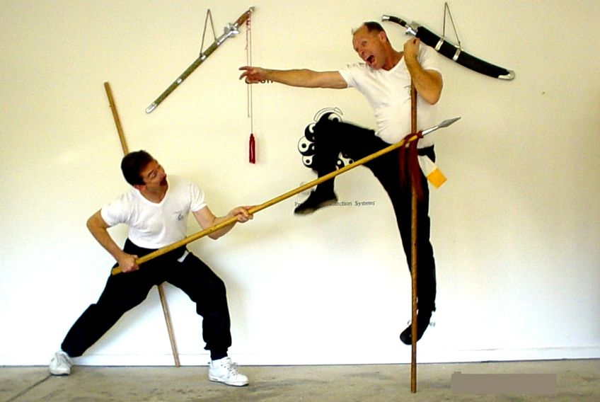 Master Geoff Bennett and Master Chris Paulin Spear verses Long Pole image