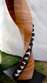 This amazing DNA wine rack enables you to see the labels and not the holders capacity: 24
