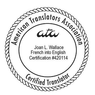 American Translators Association ATA Certification French to English