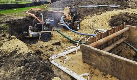 Dewatering the Midwest! Excavating has plenty of challenges, and water needs to be controlled.