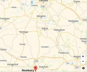 Map of Newbury, Oxford, Pangbourne, Compton, Fawley, Hungerford, Wantage, Wallingford, Abingdon, Tha