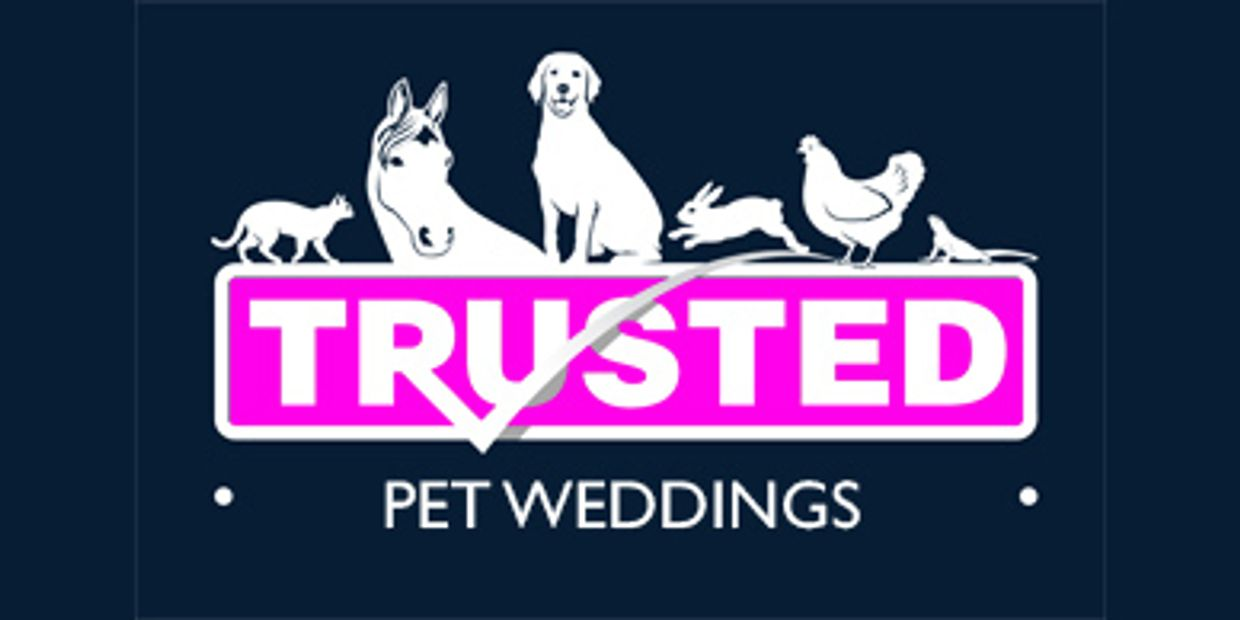 Trusted Pet Carers logo for pet weddings, wedding day dogs, wedding day dog chaperones