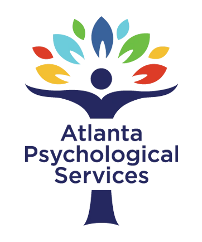 Atlanta Psychological Services Logo Welcoming Colorful Tree Vector Open Arms
