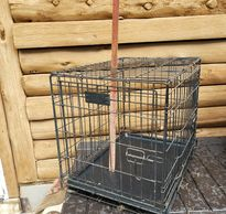 "Small Wire Dog Kennel - $15 Great for house / car kenneling 19"" x 17"" x 24"" with removable tray"