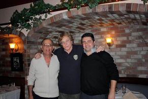 Eddie Money with Gabriele Davanzante & Russ Belleci  of the OLD Forli Ristorante - Alamo Circa 2010