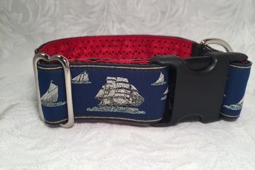 Nautical Dog Collar Dog Collar with Ship Design Sailing Boat Dog Collar