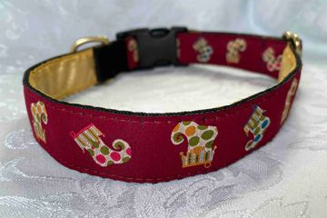 Burgundy Collar with Polka dot Stockigs