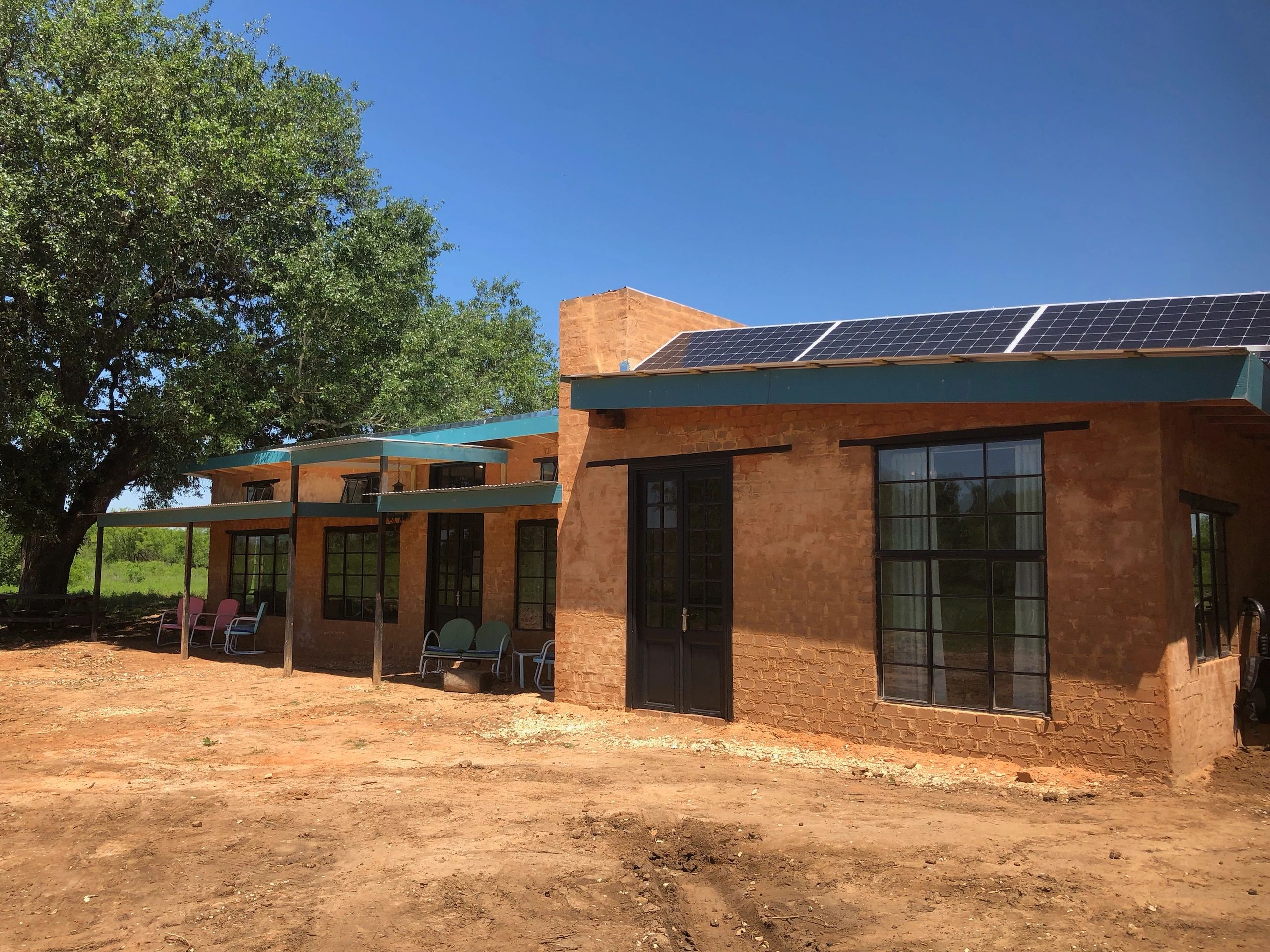 AECT's off-grid CEB home