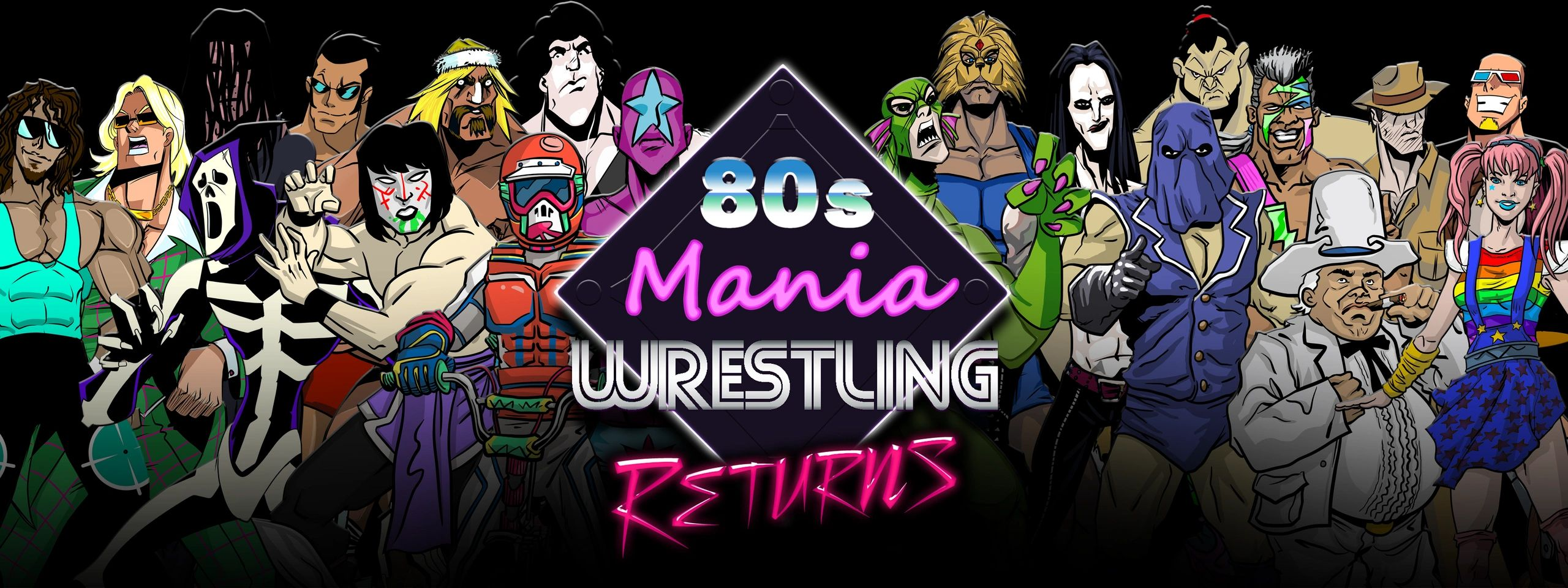 80s Mania Wrestling Returns Mobile Game Wrestler WWE AEW ROH Free Games