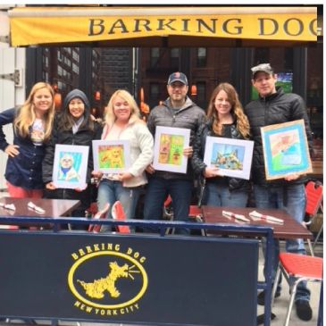 Sip and Paint your Pet Party at Barking Dog NYC with Pet Portrait Fun