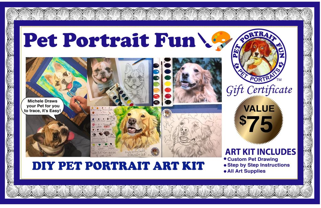 DIY Pet Portrait Fun Art Kit- Gift Certificate