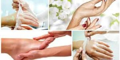 Spa hand and foot moisturizing paraffin treatments to help with dryness, stiffness and  arthritis.