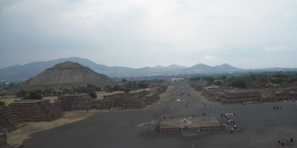 The Avenue of the Deaths Teotihuacan