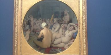The Turkish Bath Ingres Nude women painting