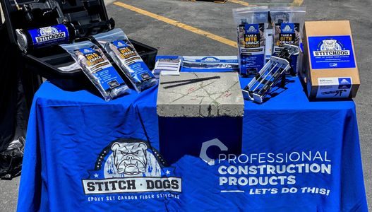 StitchDog™  Products on the blue StitchDog table