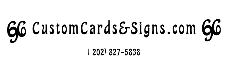 Custom Cards & Signs Company